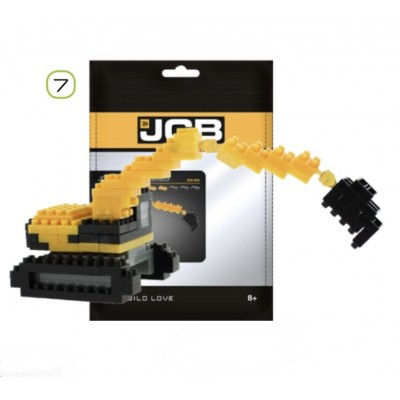 BRIXIES JCB TRACKED EXCAVATOR (110 + PIECES) MINI BUILDING BLOCKS