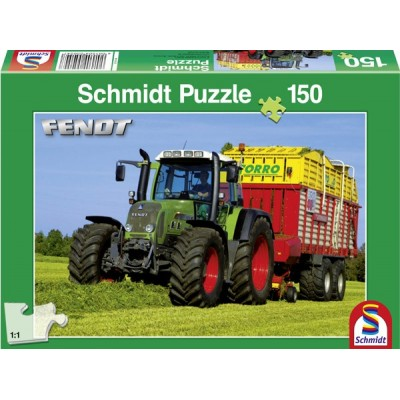 SCHMIDT FENDT TRACTOR & POTTINGER FODDER WAGON JIGSAW 150 PC