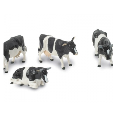 BRITAINS 1:32 FARM FRIESIAN COWS WITH BULL