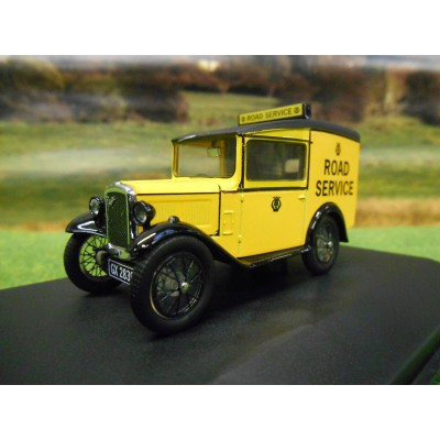 OXFORD AUSTIN 7 SEVEN SALOON ROYAL BLUE IN DISPLAY CASE 1:43
