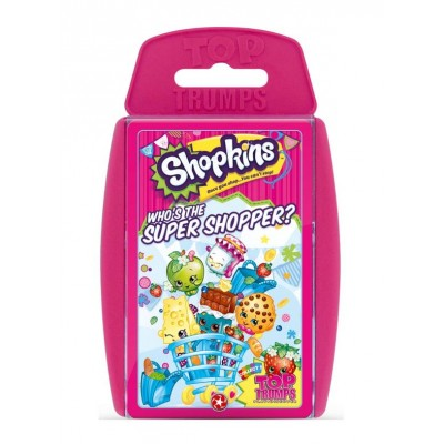 TOP TRUMPS - SHOPKINS 'WHO'S THE SUPER SHOPPER?' CARD GAME