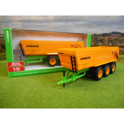 SIKU 1:32 JOSKIN 3 AXLE TRANS SPACE 8000 GRAIN TIPPER TRAILER