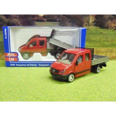 SIKU 1:50 MERCEDES SPRINTER CREWCAB TIPPER PICKUP