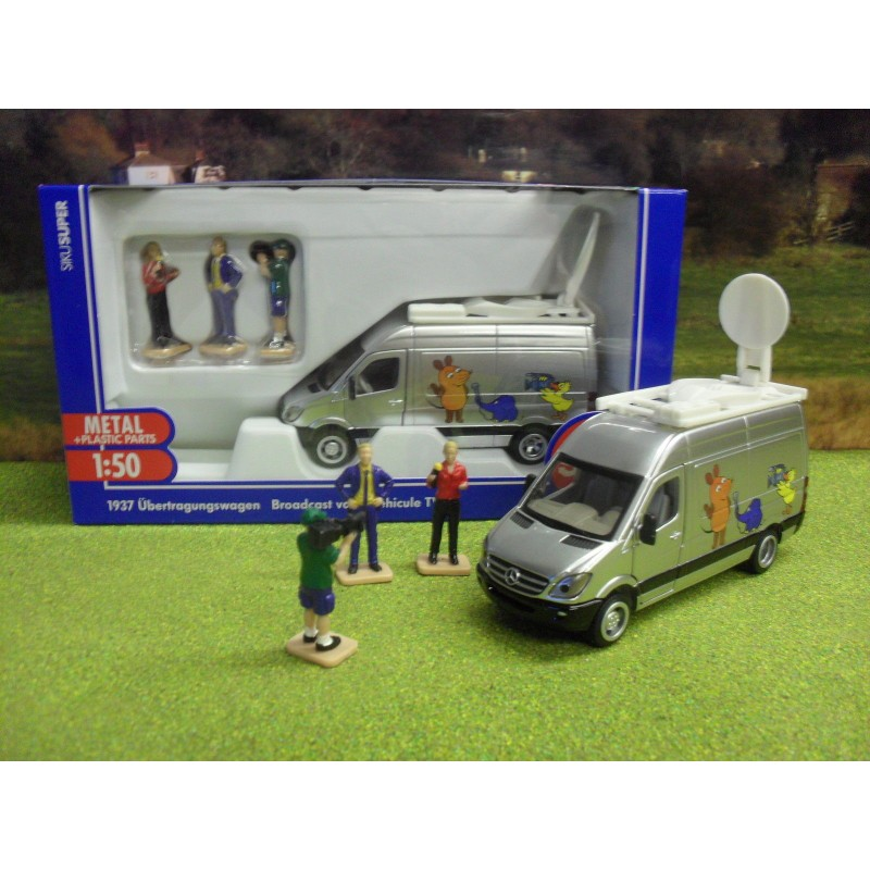 SIKU 1:50 MERCEDES SPRINTER TV FILM CREW VAN