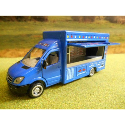 SIKU 1:50 MERCEDES SPRINTER MOBILE CATERING VAN FISH & CHIPS