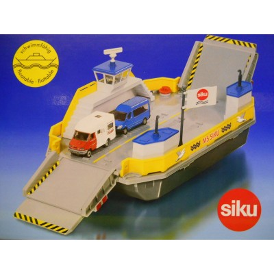 SIKU 1:50/1:55 FLOATING BIG CAR FERRY & 2 VEHICLES