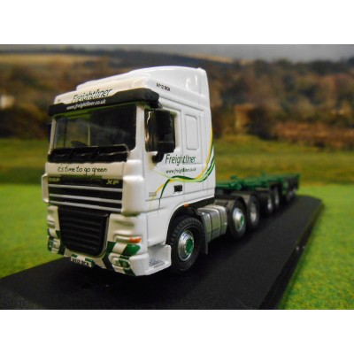 OXFORD 1:76 DAF 105 & D-TEC SKELETAL CONTAINER TRAILER FREIGHTLINER