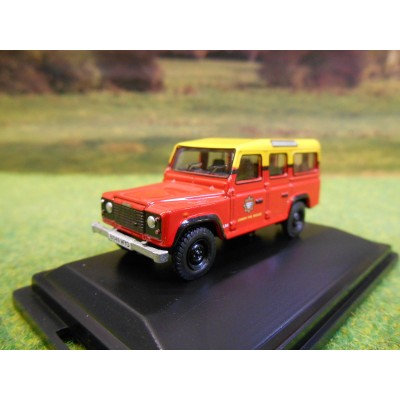 OXFORD 1:76 LANDROVER DEFENDER LWB STATION WAGON LONDON FIRE BRIGADE