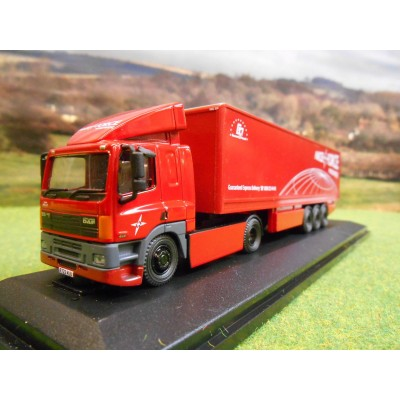OXFORD 1:76 DAF 85 40FT BOX TRAILER PARCELFORCE WORLDWIDE