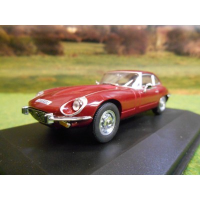 OXFORD 1:43 JAGUAR E TYPE V12 REGENCY RED IN DISPLAY CASE