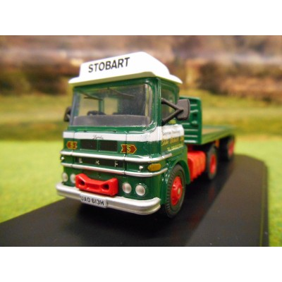 OXFORD 1:76 EDDIE STOBART ERF LV FLATBED ARTIC LORRY
