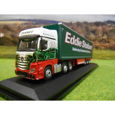OXFORD 1:76 EDDIE STOBART MERCEDES BENZ ACTROS MP4 ARTIC CURTAINSIDER