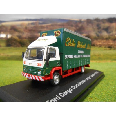 OXFORD 1:76 EDDIE STOBART FORD CARGO CURTAINSIDER LORRY