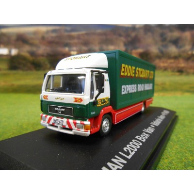 OXFORD 1:76 EDDIE STOBART MAN L2000 BOX LORRY
