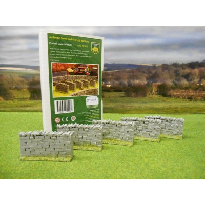 BRUSHWOOD 1:32 AUTHENTIC CURVED STONE WALLING PACK OF 5
