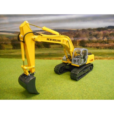 ROS DIECAST NEW HOLLAND E215 EXCAVATOR ON METAL TRACKS