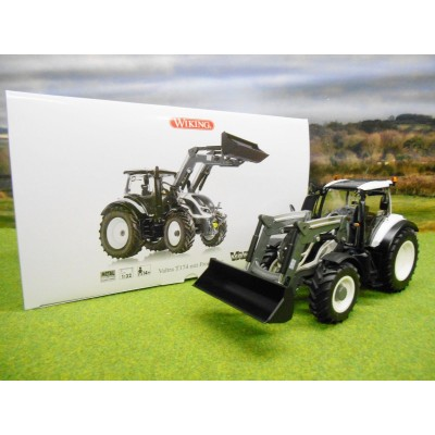 WIKING 1:32 VALTRA T174 TRACTOR IN WHITE WITH FRONT LOADER