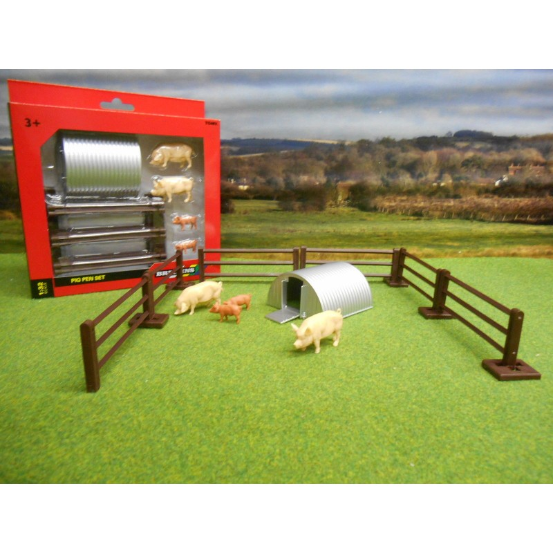 BRITAINS 1:32 PIG PEN SET PIGS ARC & FENCE