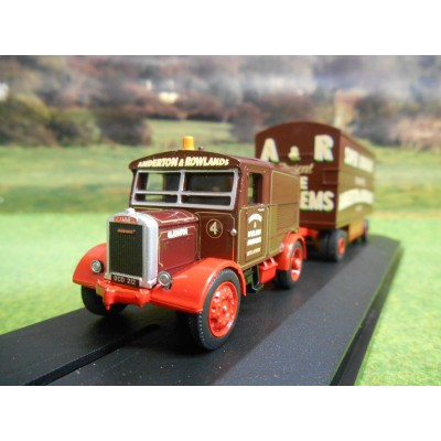 OXFORD 1:76 ANDERTON & ROWLAND SCAMMELL SHOWTRAC & DODGEMS TRAILER