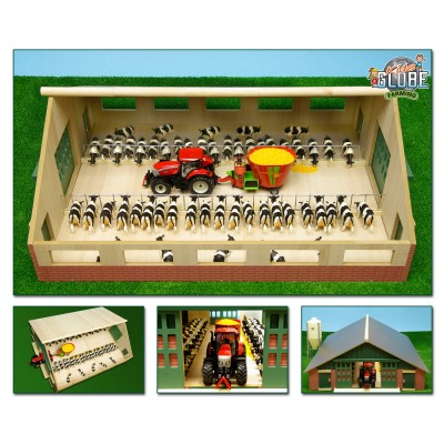 KIDS GLOBE 1:32 HUGE WOODEN COW / CATTLE BARN YARD
