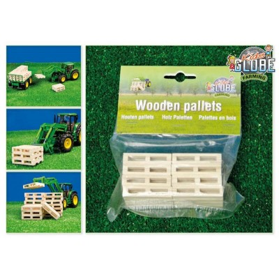 KIDS GLOBE 1:32 PACK OF 8 TOY PALLETS