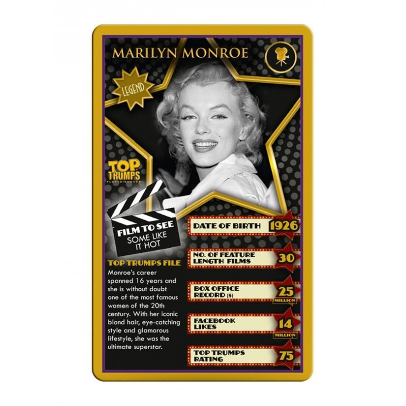 Top Trumps Movie Stars Card Game One32 Farm Toys And