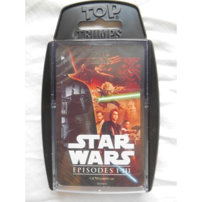 TOP TRUMPS - STAR WARS EPISODES 1 - 3 CARD GAME