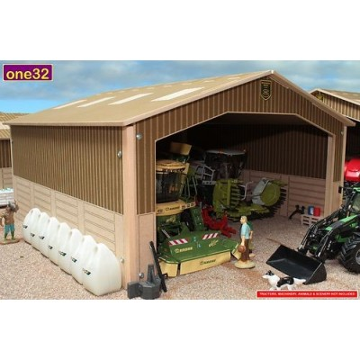 BRUSHWOOD 1:32 BASICS WOOD SINGLE BAY MACHINERY SHED