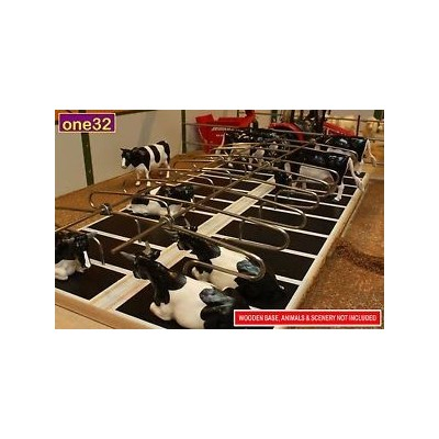 BRUSHWOOD 1:32 FARM METAL COW CUBICLES DOUBLES FOR BUILDINGS