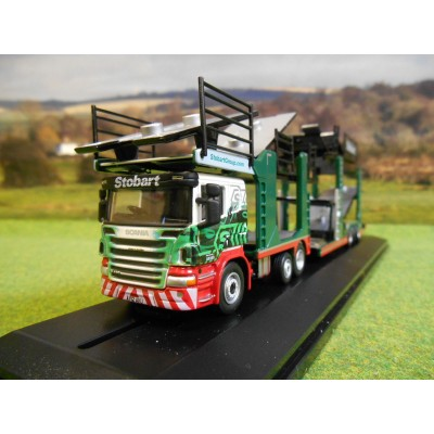 OXFORD 1:76 EDDIE STOBART SCANIA P CAR TRANSPORTER MODEL
