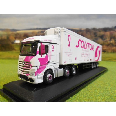 OXFORD 1:76 SOLSTOR THE PINK LADY MERCEDES BENZ ACTROS SSC FRIDGE