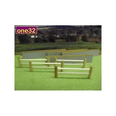 BRUSHWOOD 1:32 FARM STONE WALL & POST & RAIL FENCE SET