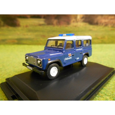 OXFORD 1:76 LANDROVER DEFENDER 110 LWB STATION WAGON RNLI LIFEBOATS