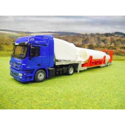 SIKU 1:50 MERCEDES ACTROS LOW LOADER & WIND TURBINE KIT