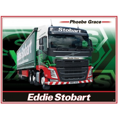 OFFICIAL EDDIE STOBART PHOEBE GRACE VOLVO FH4 METAL WALL SIGN 41 x 30CM
