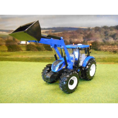 BRITAINS 1:32 NEW HOLLAND T6.180 4WD TRACTOR & LOADER
