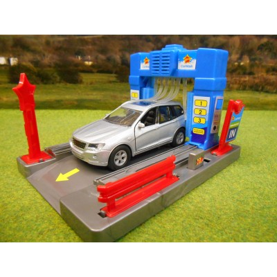 KIDS GLOBE GARAGE CAR WASH WITH LIGHT & SOUND & DIECAST CAR 1/43