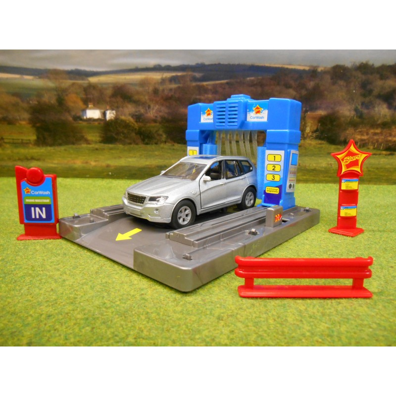 KIDS GLOBE GARAGE CAR WASH WITH LIGHT & SOUND & DIECAST