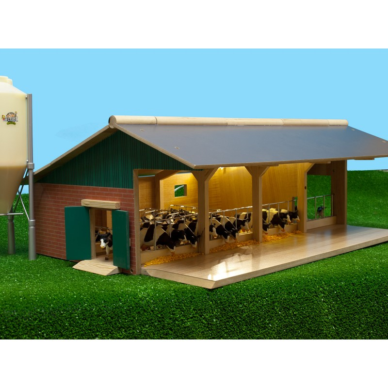 KIDS GLOBE 1:32 OPEN FRONT WOODEN CATTLE YARD FARM BUILDING