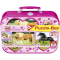 SCHMIDT HORSE & PONY JIGSAW TIN WITH 4 PUZZLES