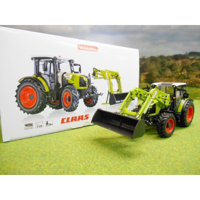 WIKING 1:32 CLAAS 430 ARION TRACTOR & DETACHABLE FRONT LOADER