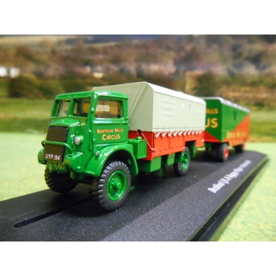 OXFORD ATLAS 1:76 BEDFORD QL LORRY & BOX TRAILER BERTRAM MILLS CIRCUS