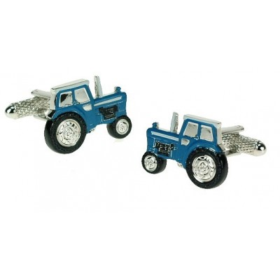 BLUE FORD TRACTOR CUFFLINKS IN GIFT BOX
