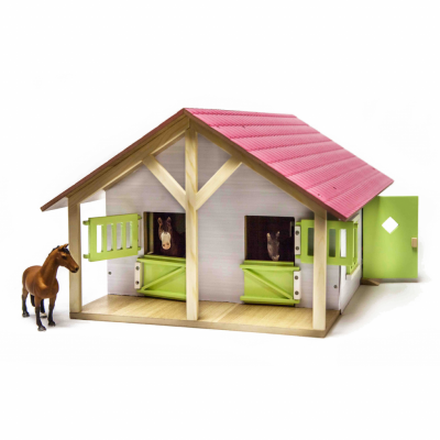 KIDS GLOBE 1:24 LARGE HORSE STABLE FOR SCHLEICH & BULLYLAND