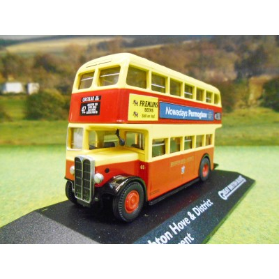 ATLAS CORGI 1/76 AEC REGENT DOUBLE DECKER BUS BRIGHTON HOVE & DISTRICT