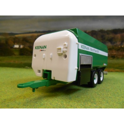 BRITAINS 1:32 KEENAN MECHFIBER 365 TWIN AXLE FEEDER WAGON