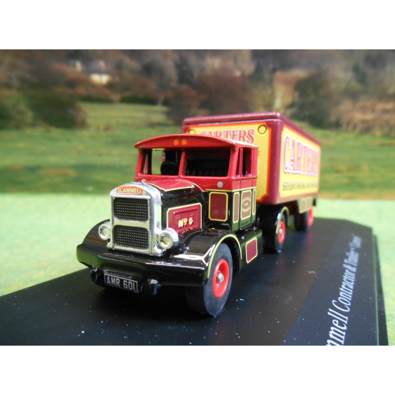 ATLAS CORGI 1/76 SCAMMELL CONTRACTOR & BOX TRAILER CARTERS STEAM FUN FAIR