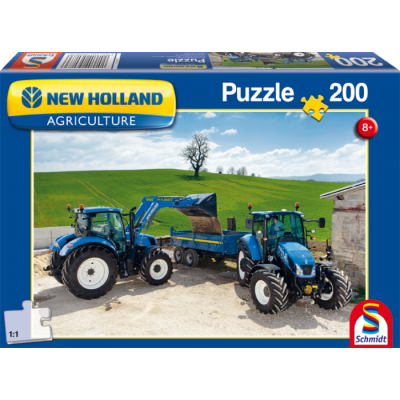 SCHMIDT NEW HOLLAND TRACTORS T6AC & T5EC 200 PIECE JIGSAW PUZZLE