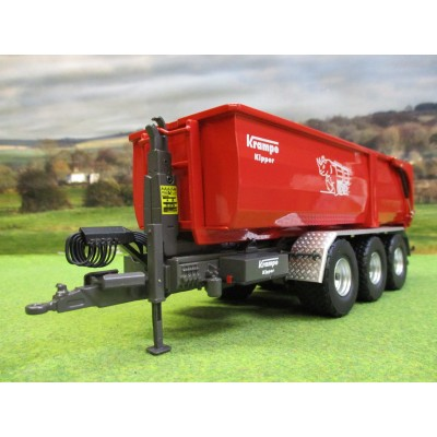 WIKING 1:32 KRAMPE KIPPER THL30L BIG BODY HOOK LIFT TRAILER