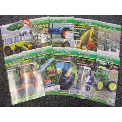 CLASSIC FARM & SITE MODELS MAGAZINE (2005 - 2006) ISSUES 1 - 10 BUNDLE